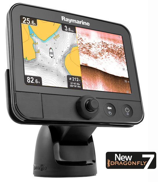 Dragonfly-7-Split-with-logo-bottom Video: Tarpon on Raymarine Dragonfly 7 CHIRP DownVision Sonar Product Reviews Tarpon Videos Videos